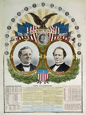 Democratic Party Painting - Presidential Campaign, 1876 by Granger