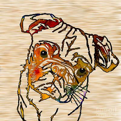 Pug Mixed Media - Pug by Marvin Blaine