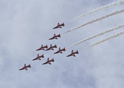 Photograph - Red Arrows by Shirley Mitchell