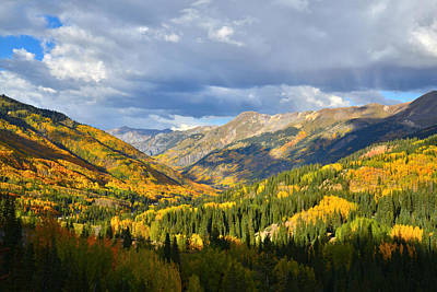 Amy Hamilton Animal Collage Rights Managed Images - Red Mountain Pass Fall Colors Royalty-Free Image by Ray Mathis