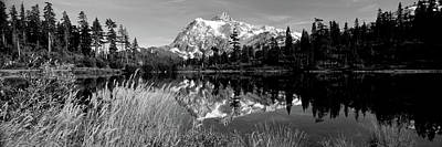 North Cascades Photograph - Reflection Of Mountains In A Lake, Mt by Panoramic Images