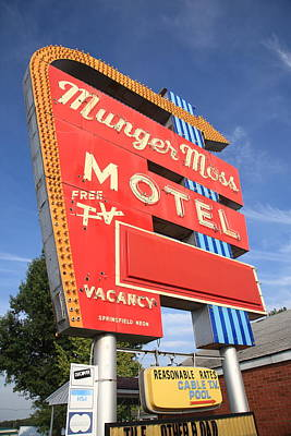 Photograph - Route 66 - Munger Moss Motel by Frank Romeo