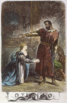 Desdemona Drawing - Shakespeare Othello by Granger