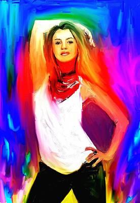 Shakira Painting - Shakira by Bogdan Floridana Oana