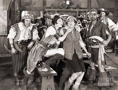 Photograph - Silent Film Still: Pirates by Granger
