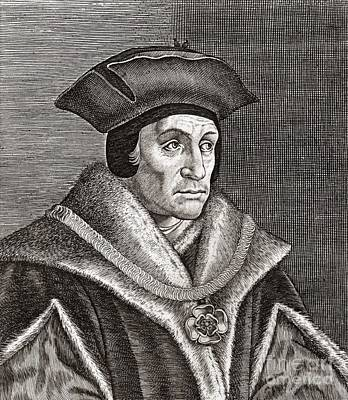 Sir Thomas More, English Statesman Art Print
