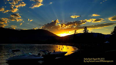 Skaha Lake Sunset Art Print