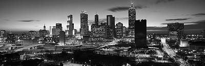Evening Scenes Photograph - Skyscrapers In A City, Atlanta by Panoramic Images