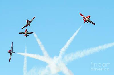 Thomas Kinkade Rights Managed Images - Snowbirds Aerial Team Royalty-Free Image by Robert McAlpine