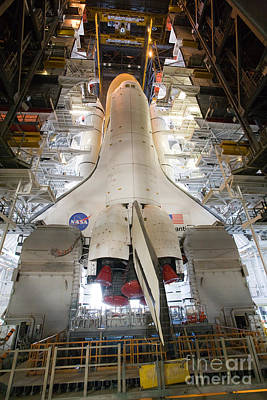 Space Shuttle Mission 135 Art Print by Chris Cook