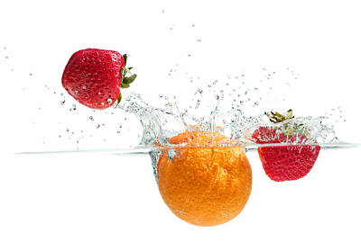 Photograph - Splashing Fruits by Peter Lakomy