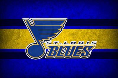 Skating Photograph - St Louis Blues by Joe Hamilton