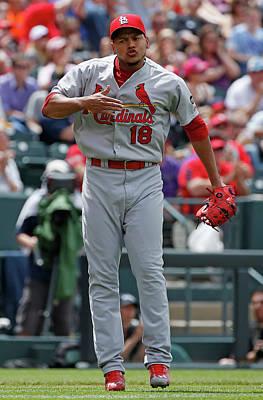 Photograph - St Louis Cardinals V Colorado Rockies by Doug Pensinger