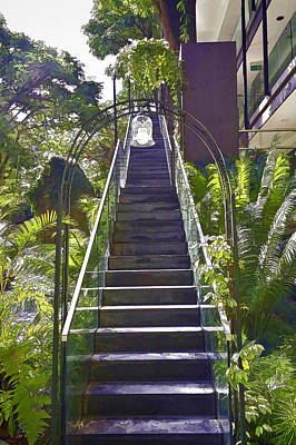 Tourist Attraction Photograph - Staircase Leading To A Higher Level In Siloso Hotel In Sentosa by Ashish Agarwal