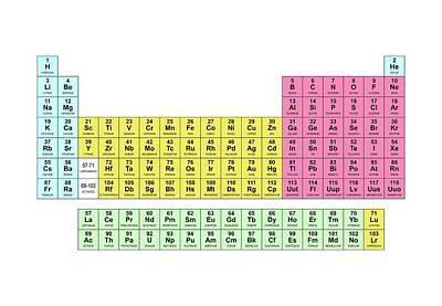 Periodic Table Of Elements Wall Art - Photograph - Standard Periodic Table by Science Photo Library