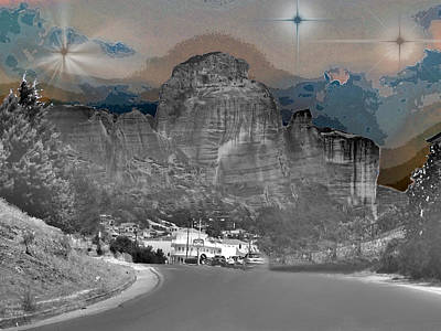 Photograph - Starry Landscape by Augusta Stylianou