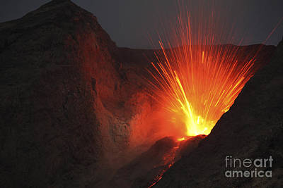 Photograph - Strombolian Type Eruption Of Batu Tara by Richard Roscoe