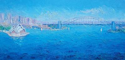 Sydney Harbour Bridge Painting - Sydney Harbour Bridge And The Opera House  by Jan Matson