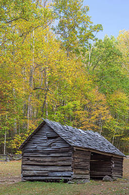 Corn Cribs Photograph - Tennessee, Great Smoky Mountains by Jamie and Judy Wild
