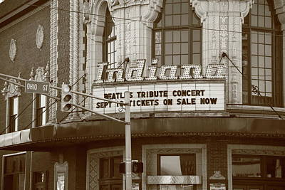 Terre Haute Indiana Photograph - Terre Haute - Indiana Theater by Frank Romeo
