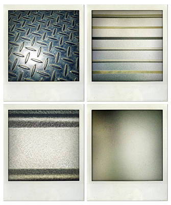 Metallic Sheets Photograph - Textures by Les Cunliffe