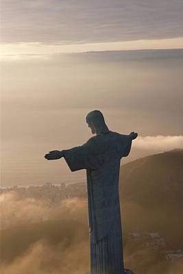 Christ The Redeemer Photograph - The Art Deco Statue Of Jesus, Known by Peter Adams