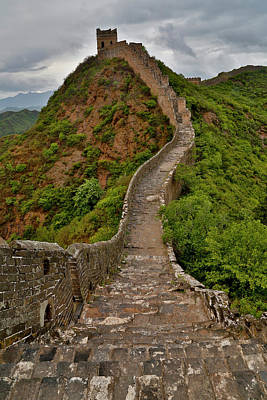 Great Wall Of China Photograph - The Great Wall Of China Jinshanling by Darrell Gulin