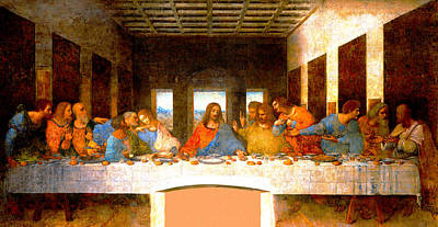 Matthew 26 Digital Art - The Last Supper  by Leonardo da Vinci