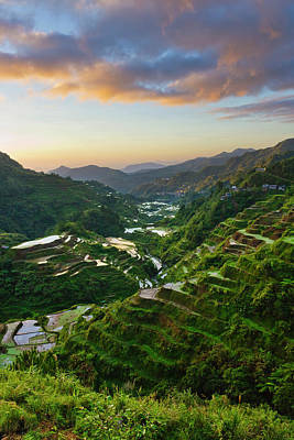 The Rice Terraces Of The Philippine Art Print
