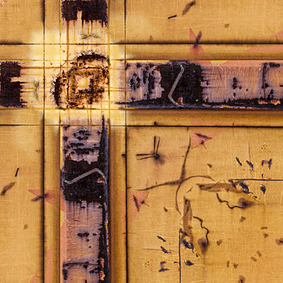Boxcar Photograph - Train Art Abstract by Carol Leigh