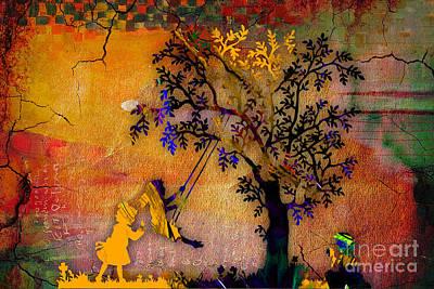 Swing Mixed Media - Tree Wall Art by Marvin Blaine