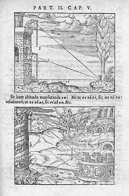 Trigonometry In Distance Measurement Art Print by Middle Temple Library