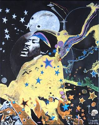 Painting - Trippin' With Jimi. by Ken Zabel