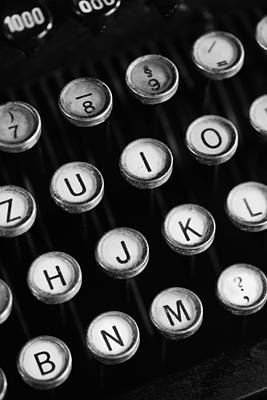 Tastatur Photograph - Typewriter Keys by Falko Follert