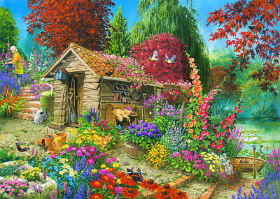 Garden Shed Painting - The Garden Shed Variant 1 by John Francis