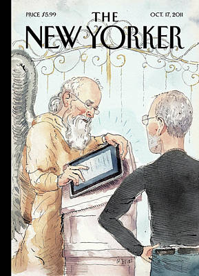 Computer Painting - New Yorker October 17th, 2011 by Barry Blitt