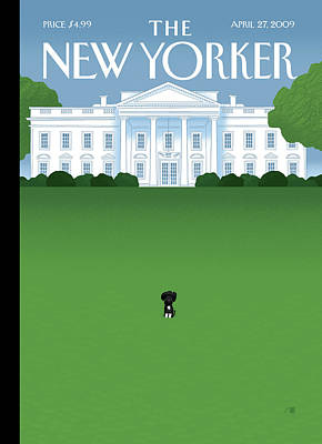 White House Painting - New Yorker April 27th, 2009 by Bob Staake