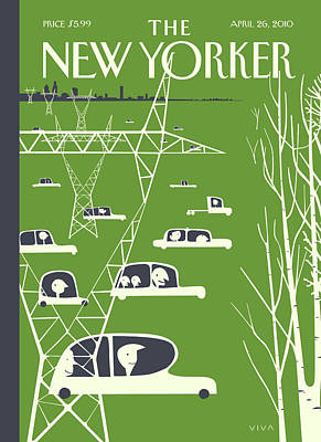 2010 Painting - New Yorker April 26th, 2010 by Frank Viva
