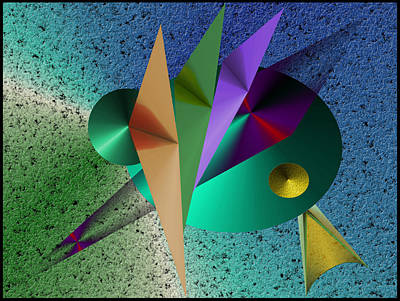Digital Art - Abstract Bird Of Paradise by Vincent Autenrieb