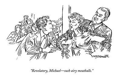 Revelatory, Michael - Such Airy Meatballs Art Print