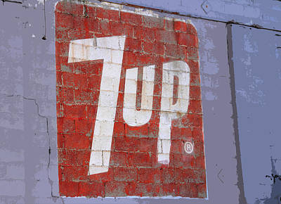 Seven-up Sign Photograph - 7 Up Sign by Nick Gray