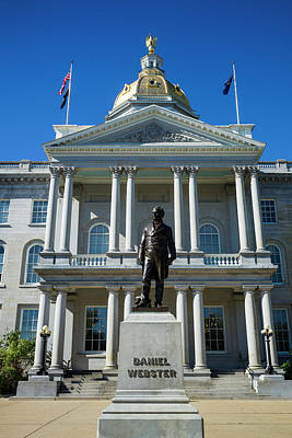 State Capitol Photograph - Usa, New Hampshire, Concord, New by Walter Bibikow