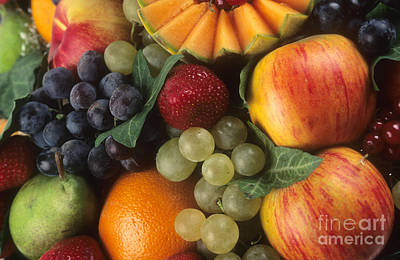 Multi Colored Photograph - Variety Of Fruits by Bernard Jaubert