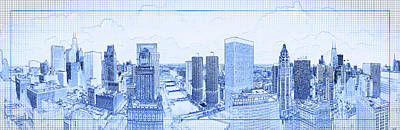 Photograph - View Of Skylines In A City, Chicago by Panoramic Images
