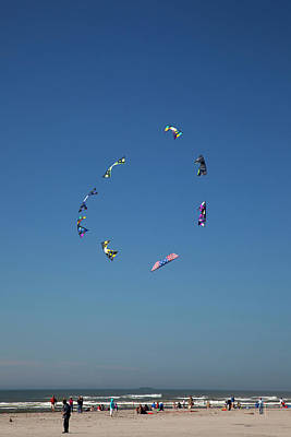 Kites Photograph - Wa, Long Beach, International Kite by Jamie and Judy Wild