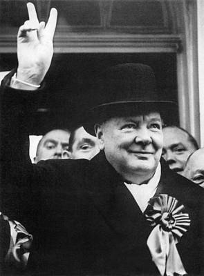 Photograph - Winston Churchill by Granger