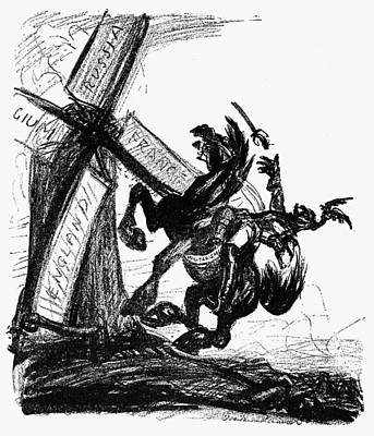 Don Quijote Painting - World War I Cartoon, 1915 by Granger