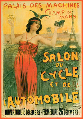 Photograph - Salon Cycle Automobile by Vintage Automobile Ads and Posters