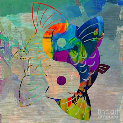 Yin Yang Koi Art Print by Marvin Blaine