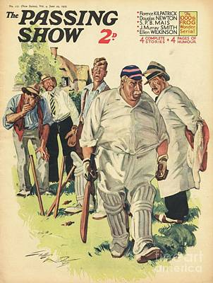 Cricket Drawing - 1930s,uk,the Passing Show,magazine Cover by The Advertising Archives